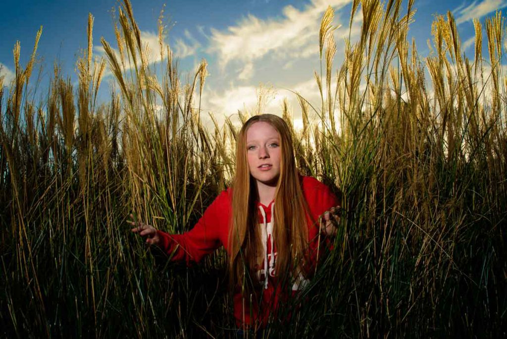 Zoe in the Tall Grass